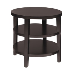 Office Star™ Ave Six Merge End Table, Round, Espresso