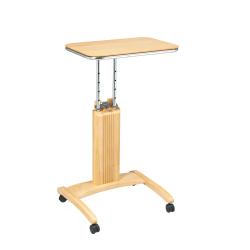 "OSP Designs Precision Adjustable-Height Wood Laptop Cart, 36""H x 20""W x 17""D, Maple"