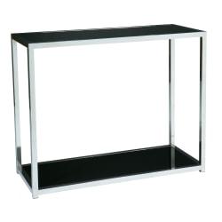 Ave Six Yield Table, Foyer, Rectangular, Chrome/Black