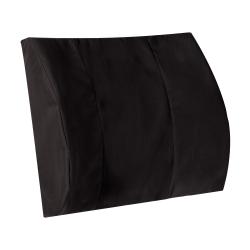 "DMI Memory Foam Lumbar Pillow Back Support Cushion, 3""H x 14""W x 13""D, Black"