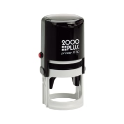 "Custom 2000 PLUS® Self-Inking Notary Stamp, R50, 1-15/16"" Diameter Impression"
