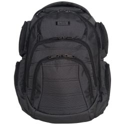Kenneth Cole Reaction Laptop Backpack, Black/Silver