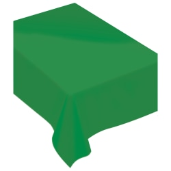 """Amscan Rectangular Fabric Table Covers, 60"""" x 80"""", Festive Green, Pack Of 2 Table Covers"""