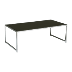 Office Star™ Ave Six Yield Coffee Table, Rectangular, Black/Chrome