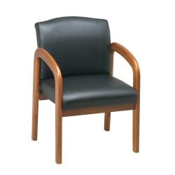 Office Star™ Work Smart™ Guest Chair, Black/Oak