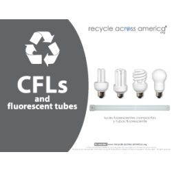 "Recycle Across America CFL Standardized Recycling Labels, CFL-8511, 8 1/2"" x 11"", Charcoal"