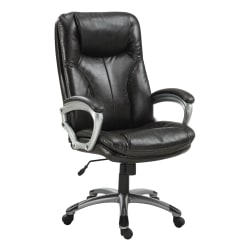 Serta® Big And Tall Puresoft® High-Back Chair, Roasted Chestnut/Silver