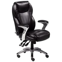 Serta® Ergo Executive Bonded Leather Office Chair, Black