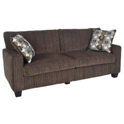 "Serta® RTA San Paolo Collection Fabric Sofa, 73""W, Mink Brown"
