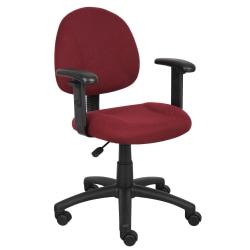 Boss Posture Mid-Back Task Chair, Black/Burgundy