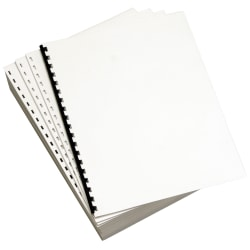 Lettermark™ Custom Cut Sheets, 19-Hole Prepunched Left, Letter Size, 24 Lb, White, 500 Sheets Per Ream, Pack Of 5 Reams