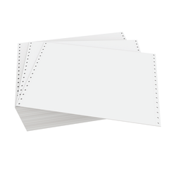 """Domtar Continuous Form Paper, Standard Perforation, 12"""" x 8 1/2"""", 20 Lb, Blank White, Carton Of 3,700 Forms"""