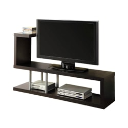 """Monarch Specialties Hollow-Core TV Stand, For Flat-Panel TVs Up To 47"""", Cappuccino"""