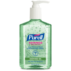 PURELL® Advanced Hand Sanitizer Soothing Gel, Fresh Scent, 8 fl oz Pump Bottle