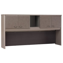 """Bush Business Furniture Office Advantage Hutch 72""""W, Pewter/Pewter, Standard Delivery"""