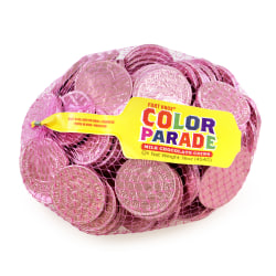 Fort Knox Milk Chocolate Coins, 1 Lb, Pink Foil