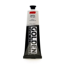 Golden OPEN Acrylic Paint, 5 Oz Tube, Naphthol Red Light