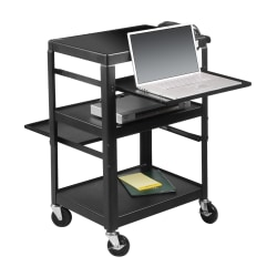 Balt® Adjustable Laptop Cart, Black