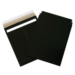 """Office Depot® Brand Self-Seal Flat Mailers, 11"""" x 13 1/2"""", Black, Case Of 100"""