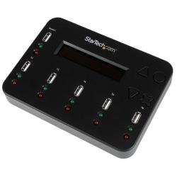 StarTech.com Standalone 1:5 USB Flash Drive Duplicator and Eraser - Flash Drive Copier