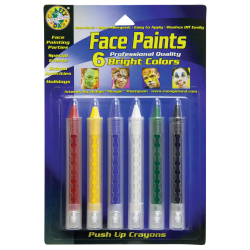 Crafty Dab Push-Up Face Paints, Assorted Colors, Set Of 36