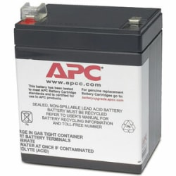 APC by Schneider Electric Replacement Battery Cartridge #45 - 12 V DC - Sealed Lead Acid (SLA) - Hot Swappable - 3 Year Minimum Battery Life - 5 Year Maximum Battery Life