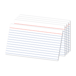 """Office Depot® Brand Index Cards, Ruled, 5"""" x 8"""", White, Pack Of 300"""