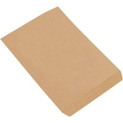 "Partners Brand Flat Merchandise Bags, 8 1/2""W x 11""D, Kraft, Case Of 2,000"