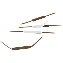 "Smead Self-Adhesive Fasteners - 2"" Size Capacity - Self-adhesive - 100 / Box - Brown - Steel"
