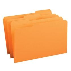 Smead® 1/3-Cut 2-Ply Color File Folders, Legal Size, Orange, Box Of 100