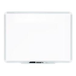 """FORAY™ Dry-Erase Whiteboard, 24"""" x 18"""", White, White Plastic Frame"""
