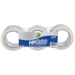 """Duck® HP260™ Packaging Tape, 2"""" x 60 Yd., Clear, Pack Of 3 Rolls"""