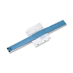 "C-Line® All-Purpose Plastic Sorter, 2 1/2"" x 23 1/2"" x 3/4"", Blue/Gray"