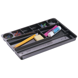 Office Depot® Brand 30% Recycled Drawer Organizer, Black
