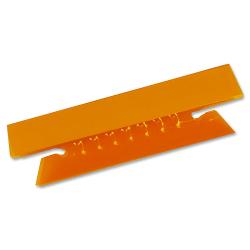 "Oxford® Soft Flexible Color Tabs, 3 1/2"", 1/3 Cut, Orange, Pack Of 25"