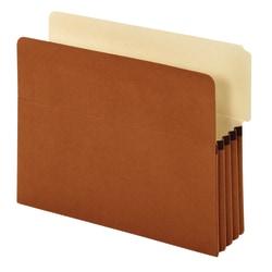 "Pendaflex® End Tab Pockets, 3 1/2"" Expansion, Letter, Brown, Pack Of 10"
