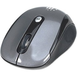 Manhattan Wireless Optical USB Mouse, Black/Silver