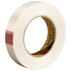 "Scotch® 8916 Strapping Tape, 3"" Core, 0.75"" x 60 Yd., Clear, Case Of 48"