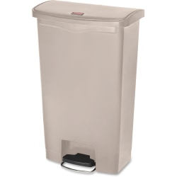 Rubbermaid® Commercial Slim Jim Front Step Container, 18 Gallons, Beige