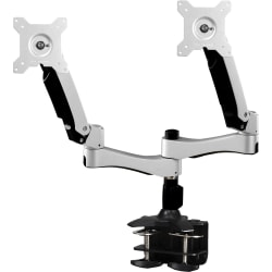 "Amer Mounts Dual Articulating Monitor Arm. Supports two 15""-26"" LCD/LED Flat Panel Screens - Supports up to 22lb monitors, +90/- 20 degree tilt and VESA 75/100"