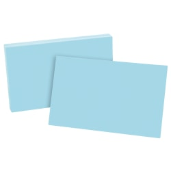 "Esselte® Color Blank Index Cards, 5"" x 8"", Blue, Pack Of 100"