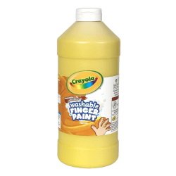 Crayola® Washable Finger Paint, 32 Oz., Yellow