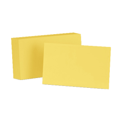 "Esselte® Color Blank Index Cards, 5"" x 8"", Canary, Pack Of 100"
