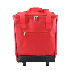 """PAI Rolling Cooler Bag, 19""""H x 14""""W x 9 1/2""""D, Red"""