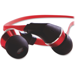 Tangle-Free Earphones - Red/Black - Stereo - Red, Black - Mini-phone - Wired - 20 Ohm - 5 Hz 22 kHz - Earbud - Binaural - In-ear - 4.30 ft Cable