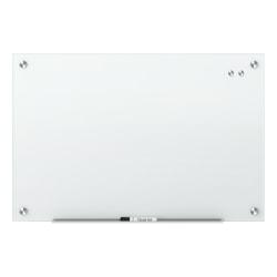 """Quartet® Infinity™ Magnetic Glass Unframed Dry-Erase Whiteboard, 36"""" x 24"""", White"""