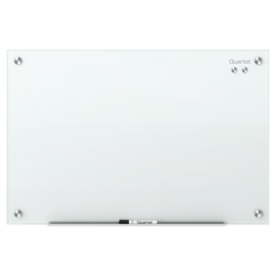 "Quartet® Infinity™ Magnetic Glass Unframed Dry-Erase Whiteboard, 96"" x 48"", White"