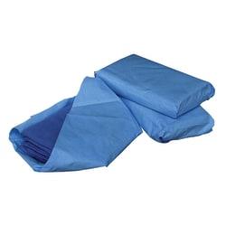 "Medline Sterile Disposable Surgical Towels, 17"" x 27"", Blue, 4 Towels Per Pack, Case Of 20 Packs"
