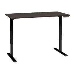 """Bush Business Furniture Move 80 Series 60""""W x 30""""D Height Adjustable Standing Desk, Storm Gray/Black Base, Standard Delivery"""