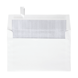 "LUX Invitation Envelopes With Peel & Press Closure, A9, 5 3/4"" x 8 3/4"", Silver/White, Pack Of 500"